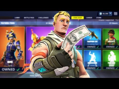 Fortnite made me buy every skin...