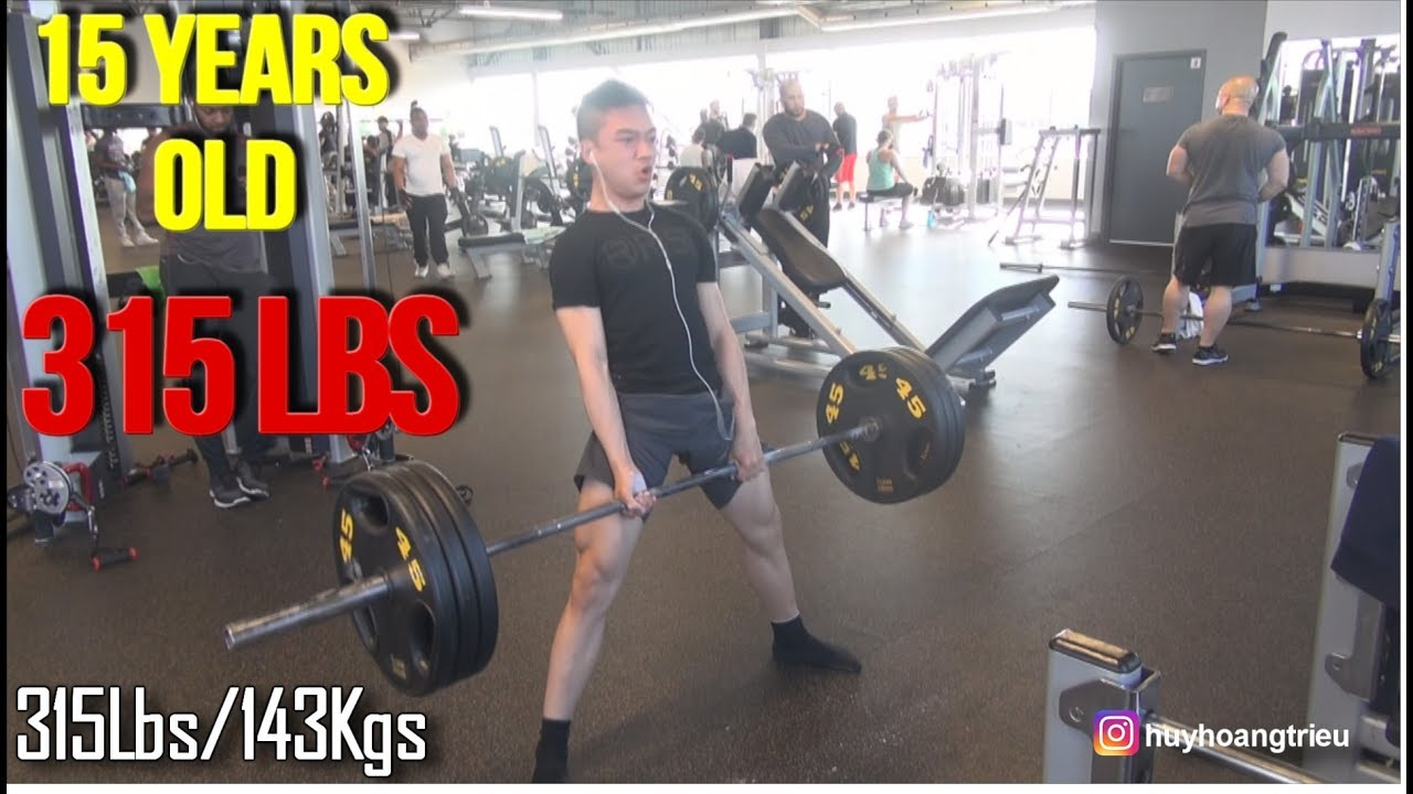 15 YEARS OLD BODYBUILDER DEADLIFT 315 LBS | Pull day