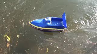 Кораблик для риболовлі BOATMAN Mini 2A, прикормочный, короповий. Тест на воді. Відео огляд -Частина 2
