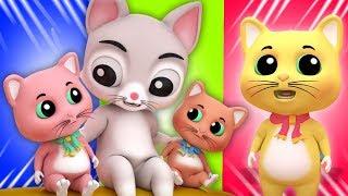 три маленькие котята | песня для детей | детские рифмы | Three Little Kittens | Baby Nursery Songs