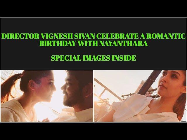 Vignesh Sivan Celebrating Birthday With Nayanthara in NewYork | Images Inside
