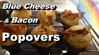 Popovers For Breakfast! Blue Cheese, Bacon, & Black Pepper Popover Recipe