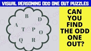 #VISUAL #REASONING ODD MAN OUT #PUZZLES WITH ANSWERS
