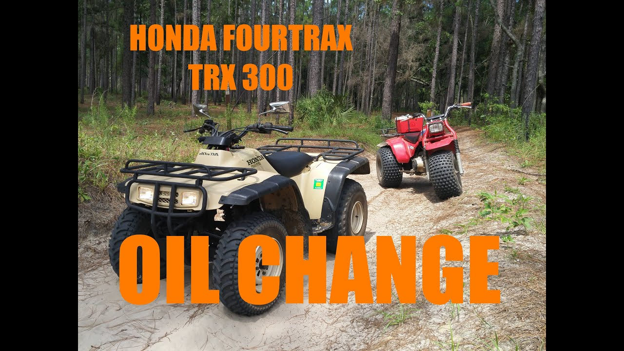 medium resolution of  quick and easy oil change honda fourtrax trx300