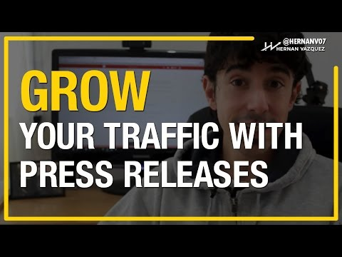 How to Get Traffic From Press Releases (Video 3) - Hernan Vazquez