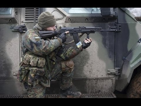 Ukraine War - Ukrainian Paramilitary in Heavy Combat Action Firefights and Clashes on the Frontline