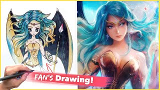 PAINTING A FAN'S DRAWING!