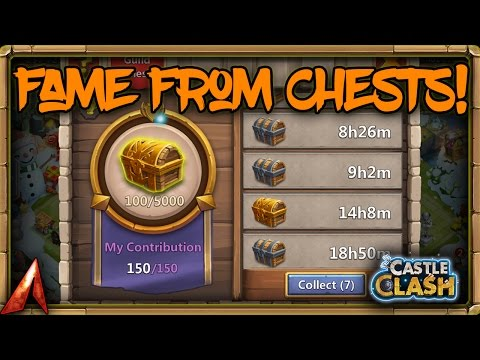 Castle Clash Fame From Guild Chests!