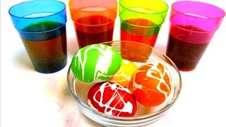 Coloring Easter Eggs with Rubber Cement -  DIY