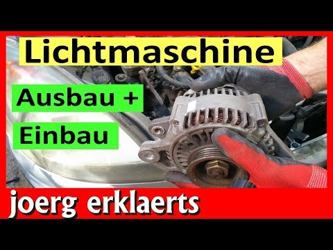 Lichtmaschine reparieren überholen Generator wechseln Ausbau + Einbau Tutorial Nr.195