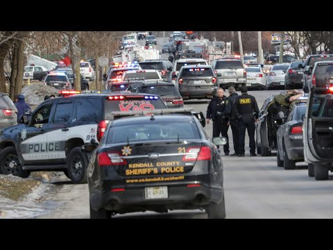 Police hold news update after man kills five in Illinois shooting