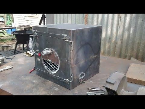 Fire box build for barrel smoker