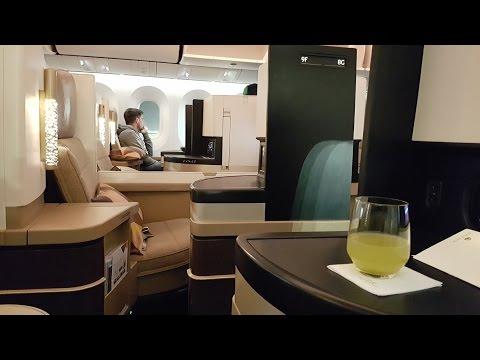 Etihad B787 Business Class ✈ Abu Dhabi to Zurich EY73