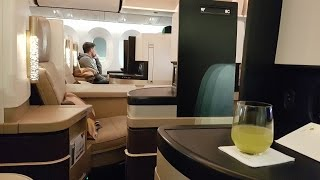 Etihad B787 Business Class ✈ Abu Dhabi to Zurich EY73