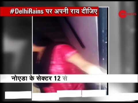 Heavy rains lash parts of Delhi-NCR: Road waterlogged in Noida sector 12