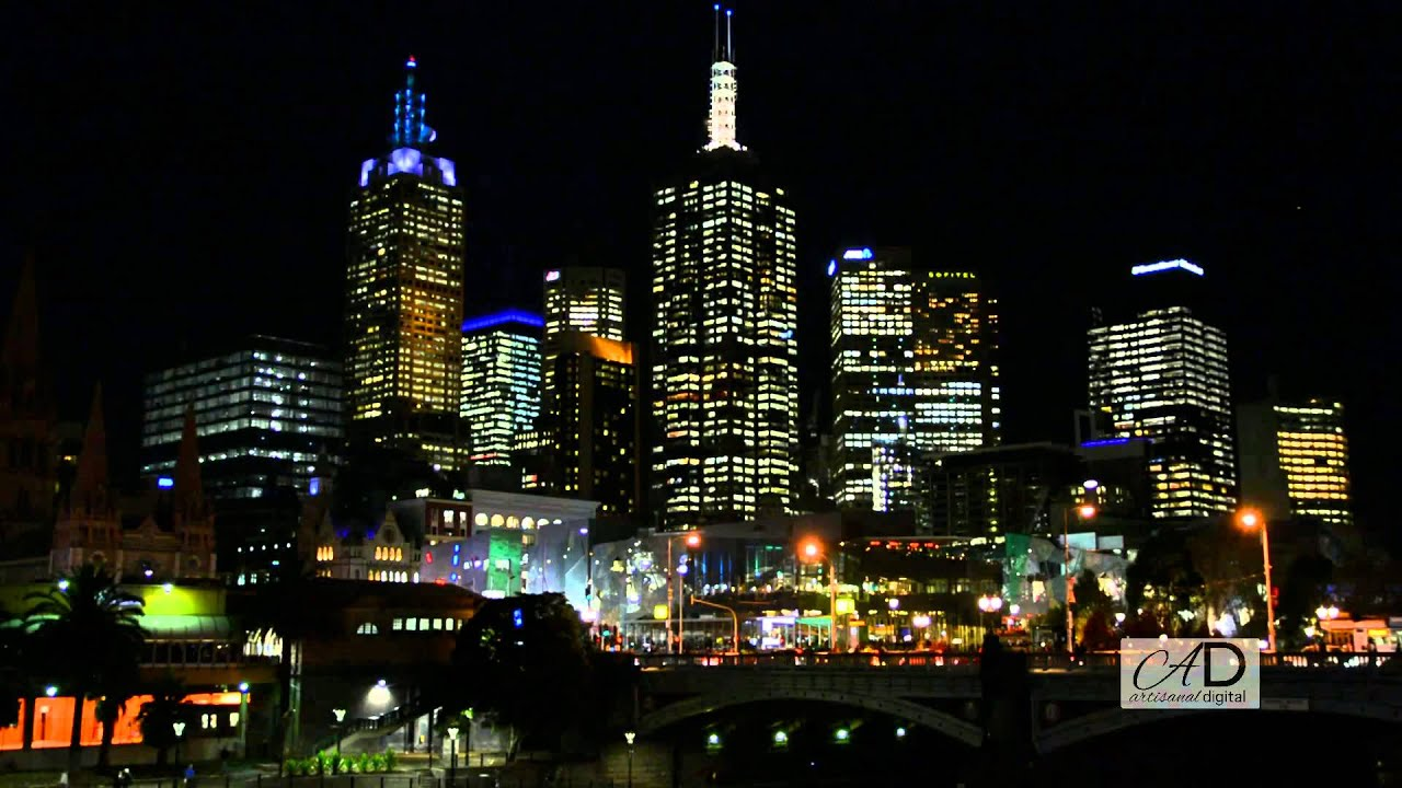 Picture Framing Melbourne The City Melbourne Australia Night Cityscape With A