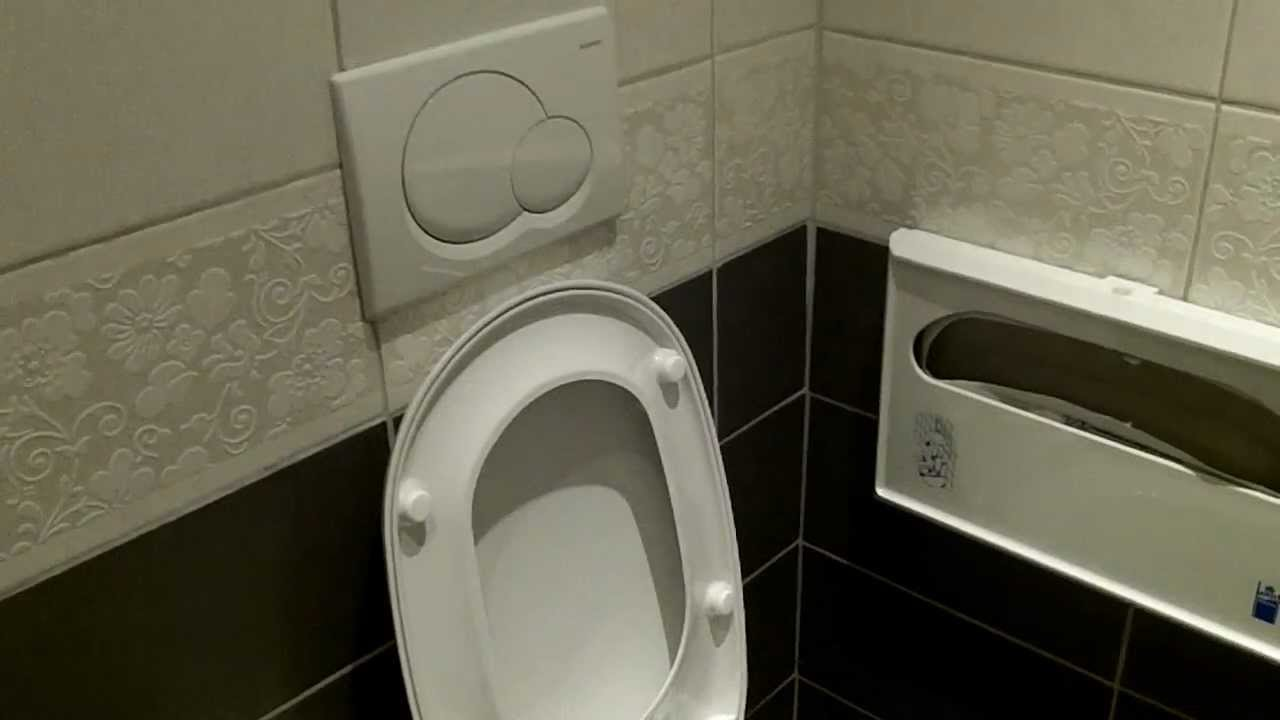Wall Hung and Wall Mounted Allia Paris toilet. - YouTube
