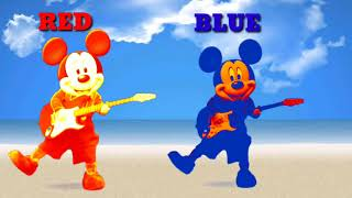 Learn colors with Micky dancing for kids, Amazing Micky colors dancing for children