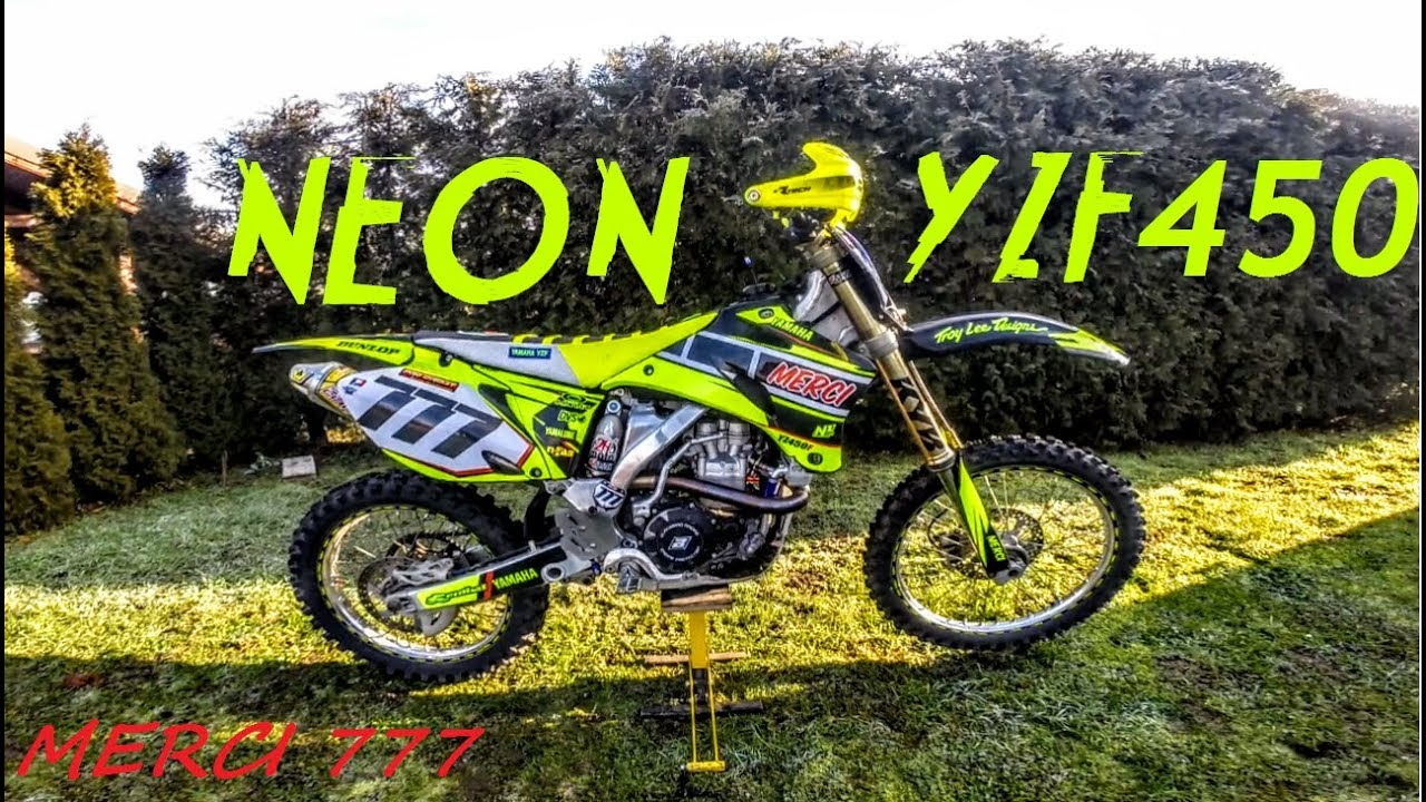 Project NEON YAMAHA YZ450F 2008 - YouTube