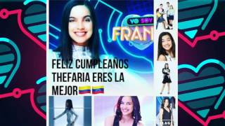 Feliz Cumpleaños Maria Gabriela De Faria 2016