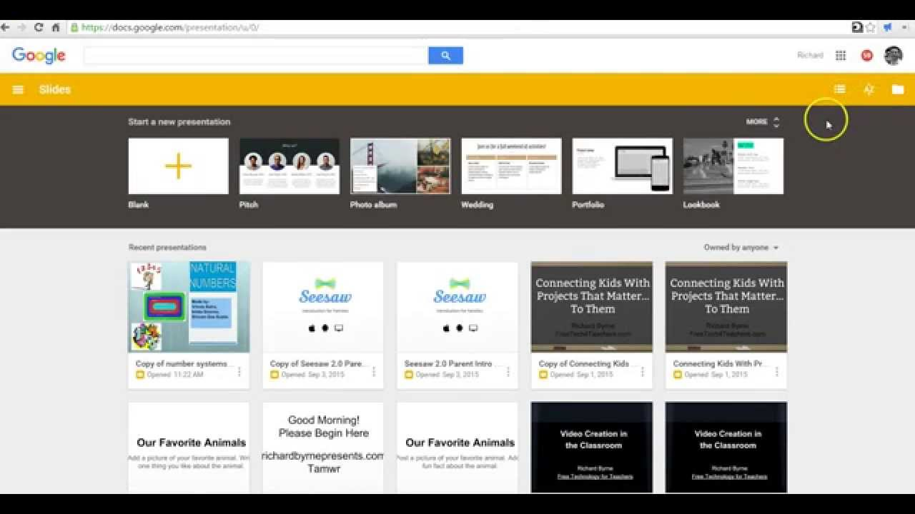 how to use the google drive templates gallery youtube