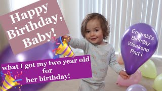 Gift Ideas For A Two Year Old Toddler Girl | Happy Birthday, Emerald!| Ash Burgess