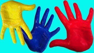 Цветные пальчики Учим цвета для малышей Развивающая песня Про пальчики Рисуем Пальчиковыми красками