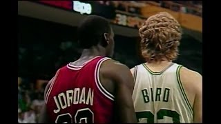 Larry Bird (36pts, 12reb, 8ast) vs Michael Jordan (63 Points) 1986 Bulls (G2) BEST QUALITY