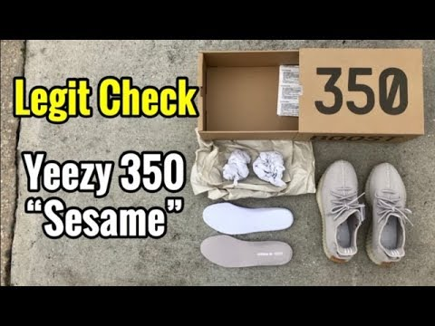 "brand new 2d443 6480c Yeezy 350 ""Sesame"" Legit Check"