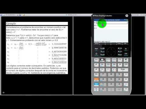 HP PRIME SOLUCION DE ECUACION NEWTON RAPSHON