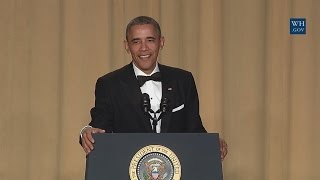 president obama speaks at the white house correspondents association dinner