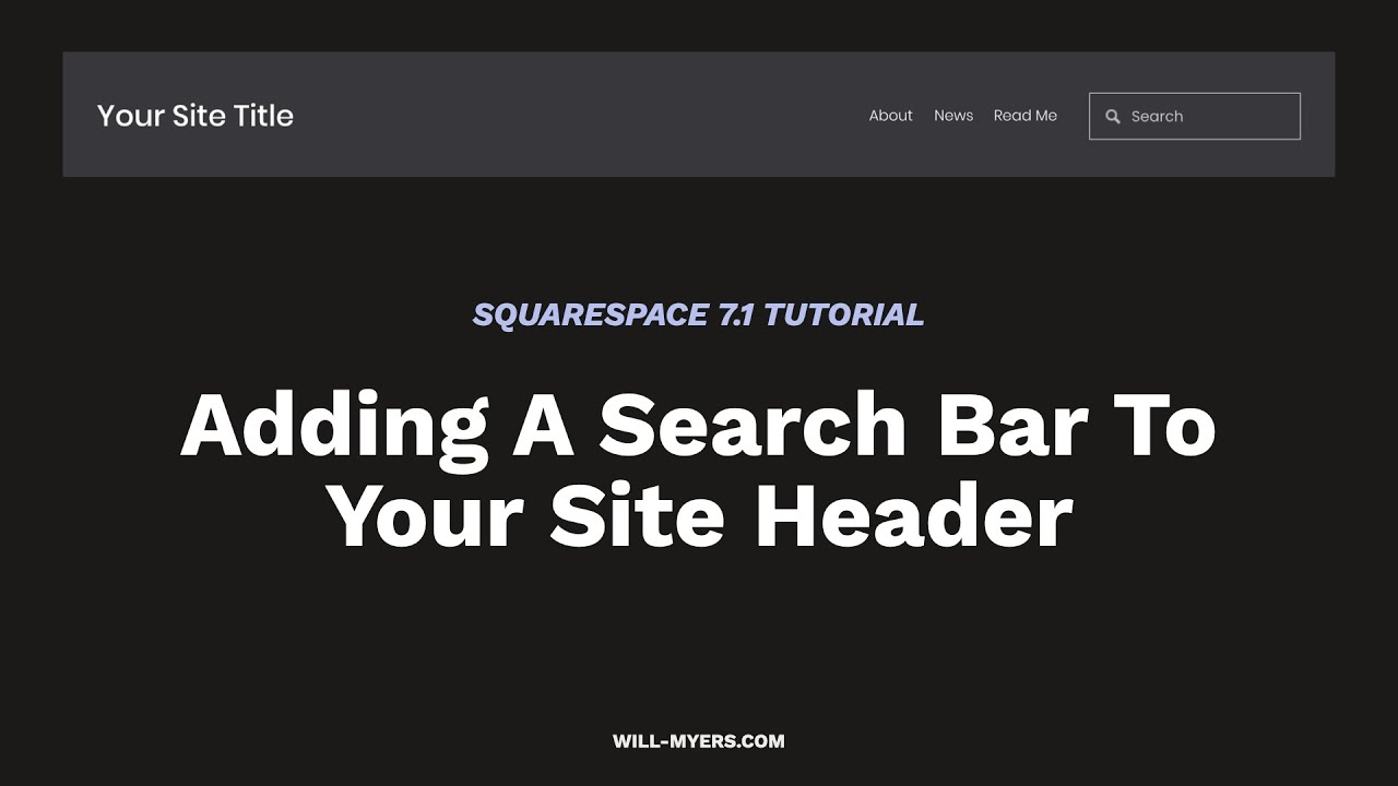 Adding a Search Bar To The Header in Squarespace 7.1