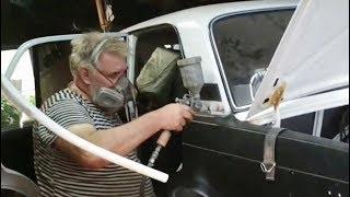 Ремонт, замена битого багажника ВАЗ 2107. грунтую, наношу герметик. 7 часть