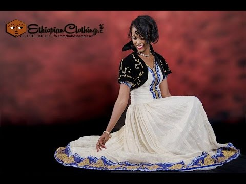 Ethiopian wedding dress - YouTube