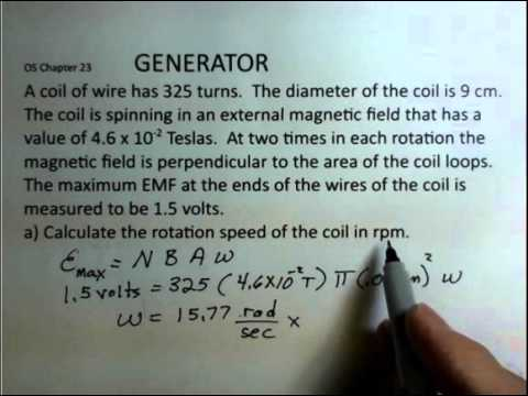 AC Generator, Spinning Coil of Wire - YouTube