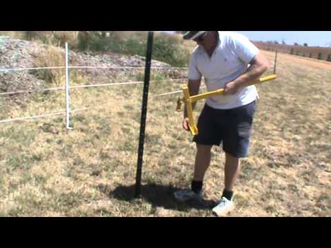 Steel Post Driver And Star Steel Picket Post Lifter Shearing And Fencing Videos 011