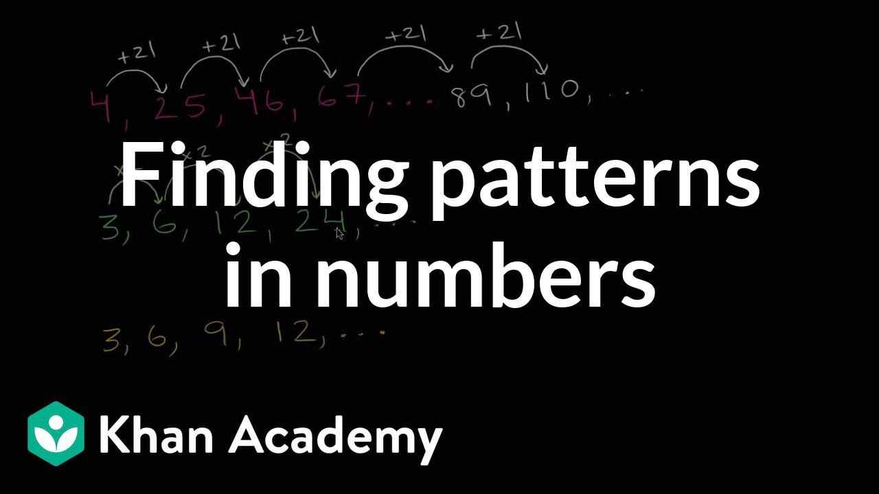 hight resolution of Finding patterns in numbers (video)   Khan Academy