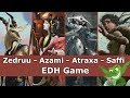 Zedruu vs Azami vs Atraxa vs Saffi EDH / CMDR game play video for Magic: The Gathering