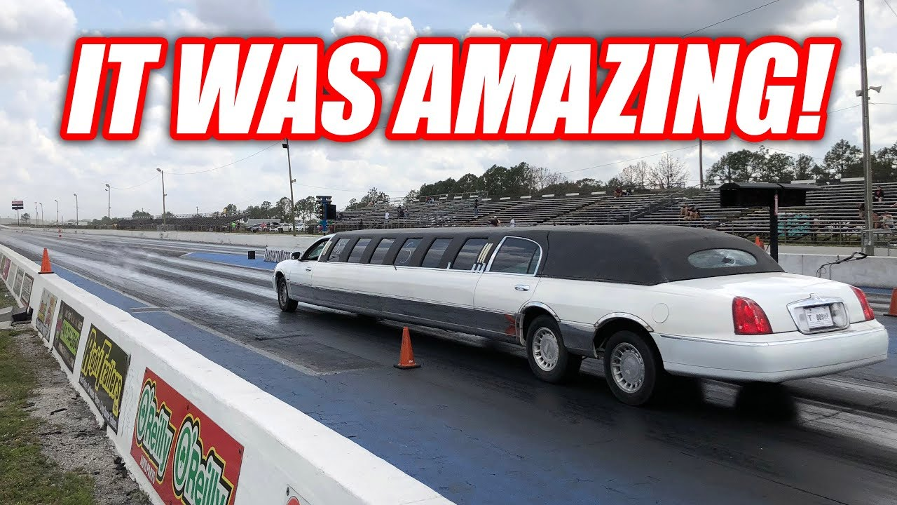 I Took My Limo Drag Racing It Does Burnouts