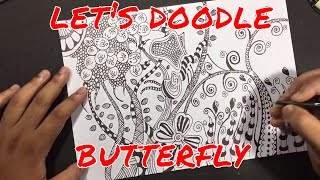 butterfly- doodle art for beginners