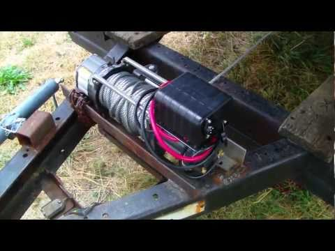 Mounting A Hf 2000lb Atv Winch To Trailer Hitch Doovi