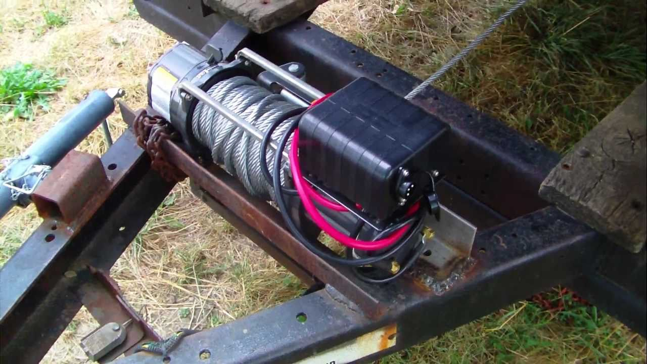 Electric Winch On Derby Trailer Youtube
