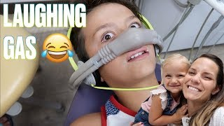 👨‍⚕️TAKING FOUR KIDS TO THE DENTIST PLUS A THREE YEAR TODDLER WELL CHECK WITH LAUGHING GAS 🤣