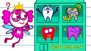 Nate Tries To Be The Best Tooth Ever | Animated Cartoons Characters | Animated Short Films