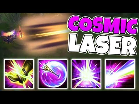 YOUR LASER IS PURPLE! DARK COSMIC LUX IS SUCH A COOL SKIN!! - League of Legends