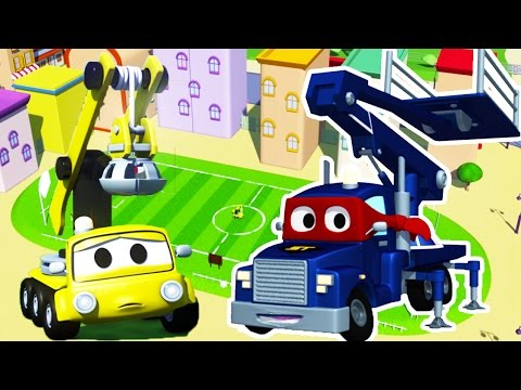 Carl the Super Truck and the Lifter Truck in Car City | Trucks Cartoon for kids