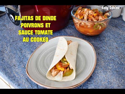 fajitas-a-la-dinde,-poivrons-et-sauce-tomate-au-cookeo-|-sally-cuisine-{episode-73}