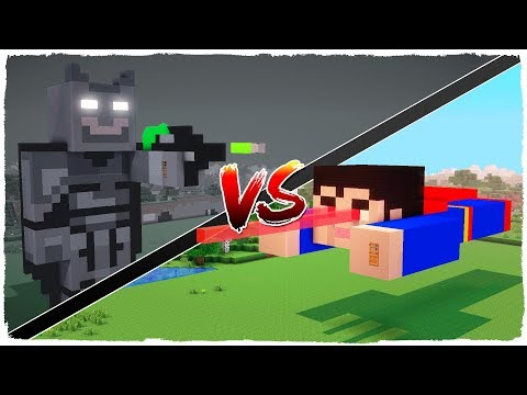 👉 Casa de BATMAN vs casa de SUPERMAN - MINECRAFT