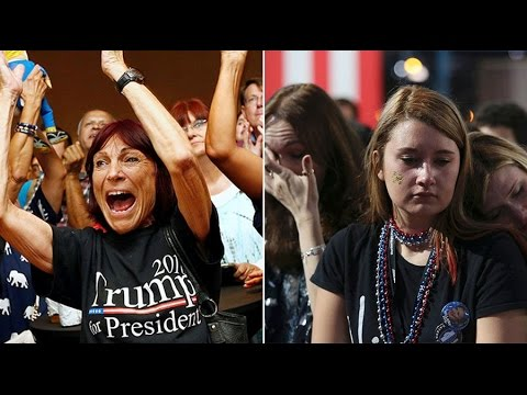 Delight vs. despair: Trump, Clinton supporters react as US election results announced
