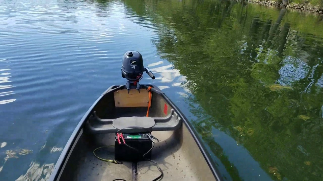 Stability test with deck on old town canoe